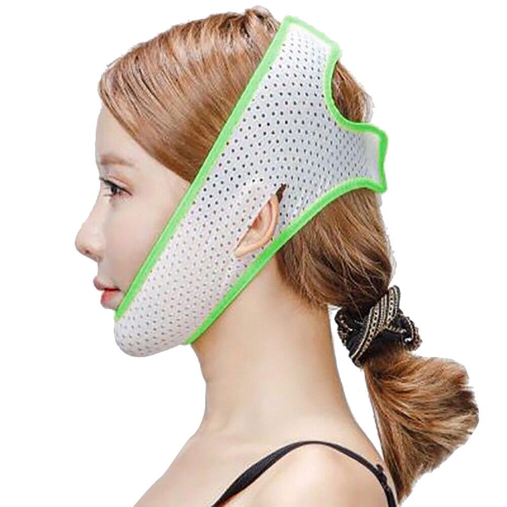 1 шт. инструменты для подтяжки лица, забота о здоровье, подбородок, щек, красота, пояс для похудения, v-образная линия, маска для подтяжки лица, бандажный массажер, один размер - Цвет: Green