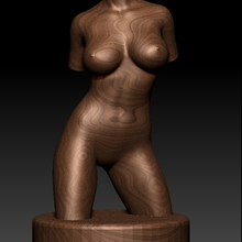 3D model Relief for CNC in STL file format Naked women bust