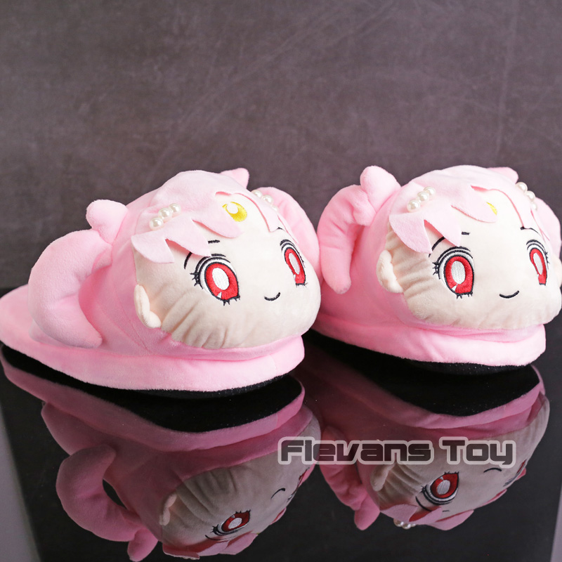 Sailor Moon Sailor Chibi Moon Chibi Usa Plush Slippers Winter Indoor Warm Shoes Soft Stuffed Toys