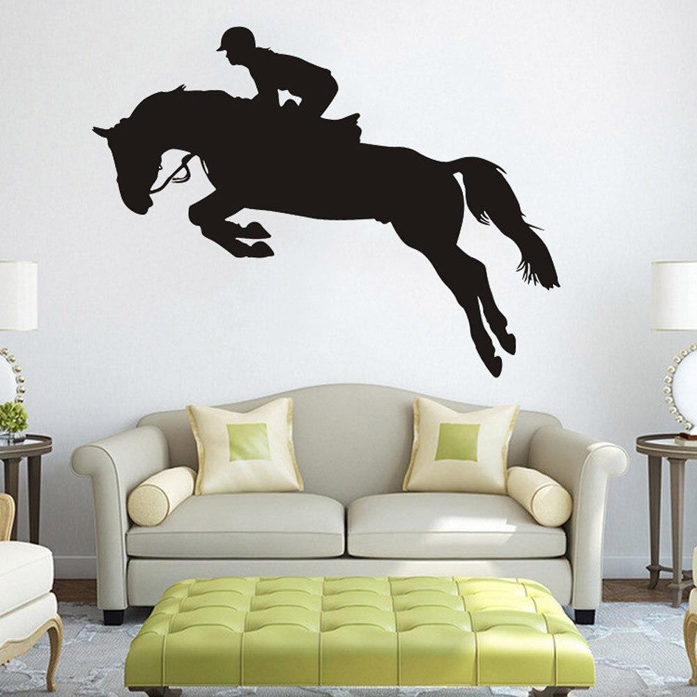 Passeios A Cavalo Saltou Para Cima Adesivo De Parede Sala De Estar  -> Fts De Cavalo Rm Adesivo Pra Quarto