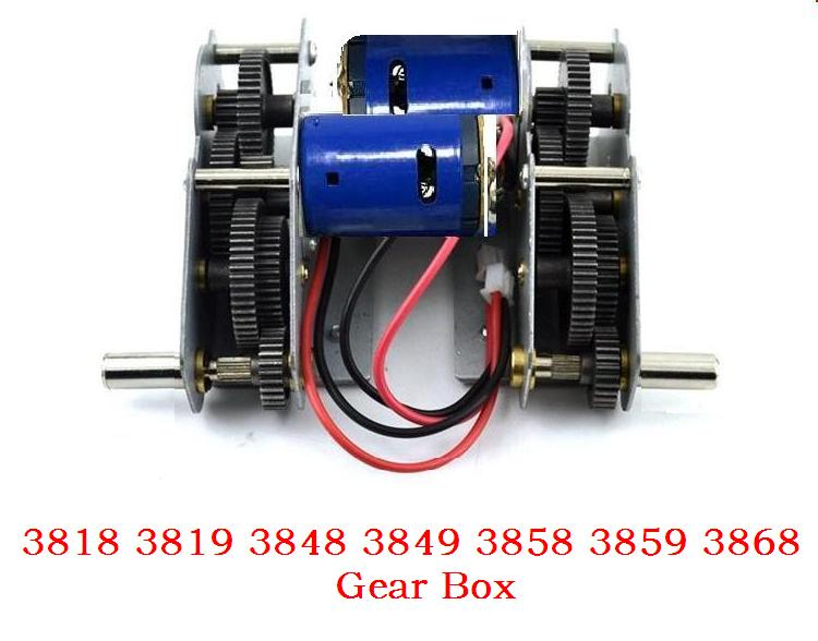 Henglong3818 3819 3838 3839 3878 3889 3908 3918 3938 ect 1/16 RC tank motors 380 390/steel gears /steel gearbox with 380 motor henglong 3838 3839 3878 3889 1 3908 1 3918 1 1 16 rc tank parts steel drive system gearbox free shipping