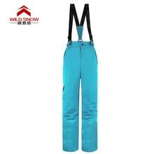 Женские брюки размера плюс с эластичной резинкой на талии, зимние штаны для катания на коньках, лыжные штаны для женщин