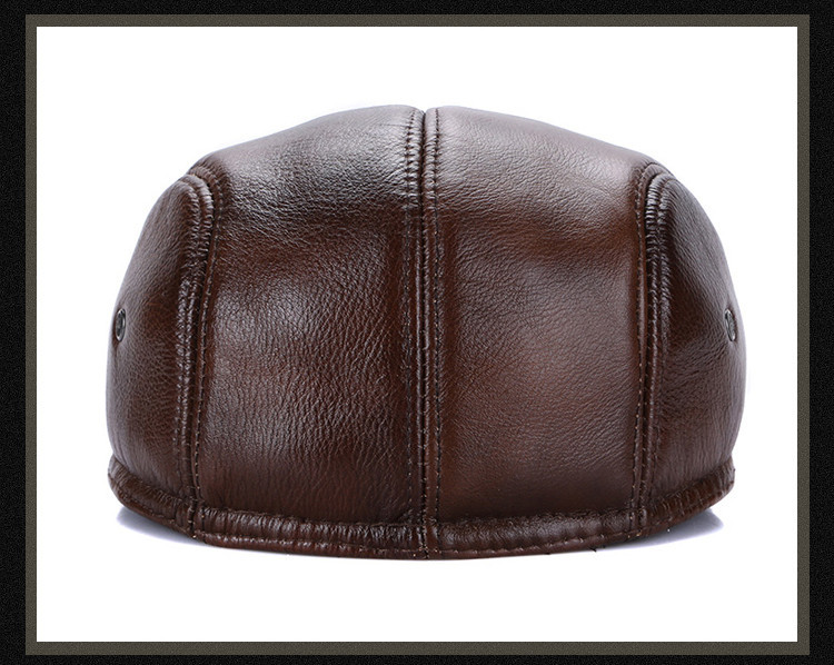 men leather captain hat natural cow (23)