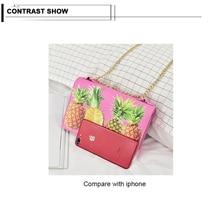 Fashion Women Shoulder Bag Pu Leather Messenger Bag for Ladies Pineapple Printing Design Crossbody Bags Casual Mini Bags