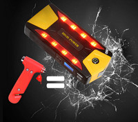 4 USB Power Bank for car mobile with compass LED display SoS Car Emergency Power Supply 12V car jump starter