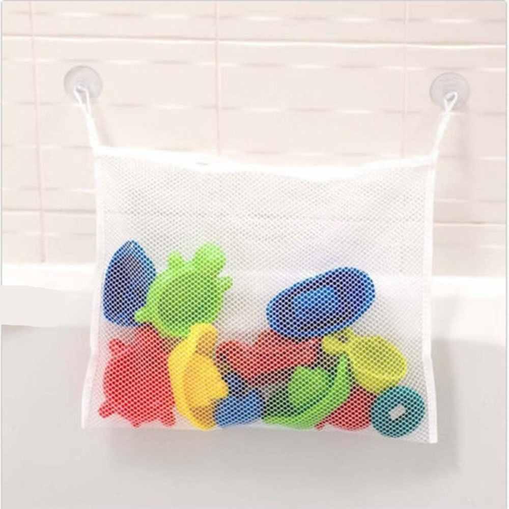 Новая детская сумка для хранения игрушек для ванной, органайзер, полезная сетка корзины на присосках, Детская Сетчатая Сумка для ванной
