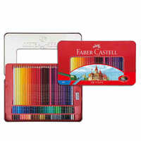 Castle oily color pencil 100 color painting color lead red box professional brush set hand-painted