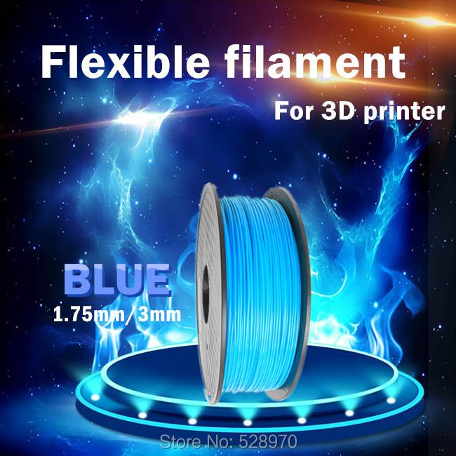 Prix pour 3d imprimante filament Flexible bleu couleur 1.75mm/3mm 1 kg/2.2lb Élastique Impressora Flexible En Caoutchouc filament doux pour 3D impression