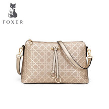 FOXER2016 new luxury fashion high-grade leather leisure Messenger bag brand-name products 100% high-quality women well-known