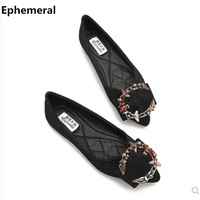 Ladies Colorful Diamond Flats Luxury Brand Shoes Match Bag Big Size 34 44 Gold Silver Black Comfortable Slip ons For Driving