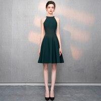 Women Cocktail Party Dress 2019 New Green Elegant A Line Mini Black Lady Cocktail Dresses Short Dresses LYFY02