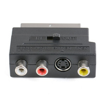 RGB Scart na Composite 3RCA s video adapter av TV audio lub wideo rejestrator DVD telewizor telewizor projektor
