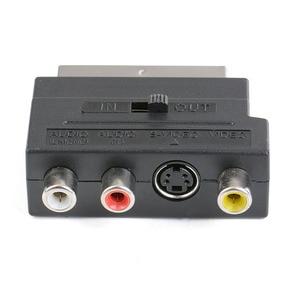 Image 1 - Rvb péritel vers Composite 3RCA s vidéo AV TV Audio adaptateur ou vidéo DVD enregistreur TV projecteur de télévision