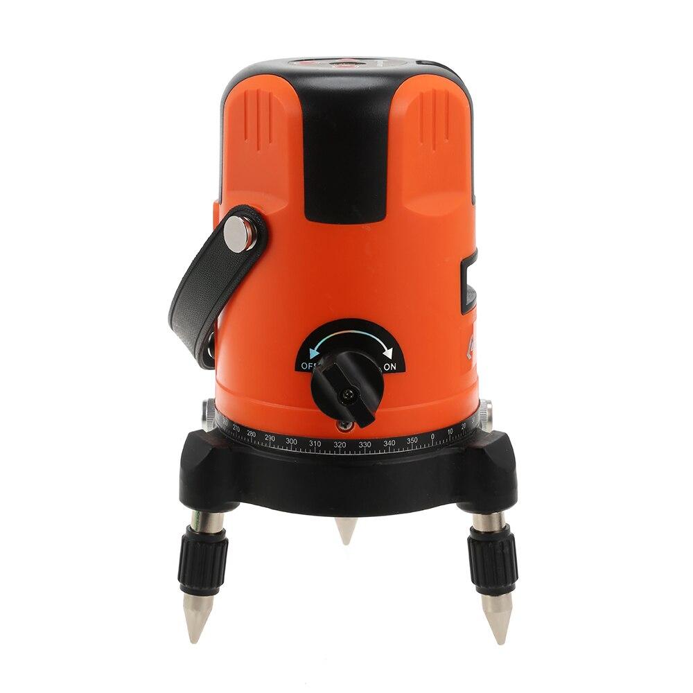 360 degrés Laser Level Meter 2 point 635nm Croix Ligne Portable mini Croix 360 Degrés Rotatif Modulaire Instrument
