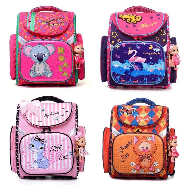 5df112419765 DELUNE 2018 NEW Foldable Girls School Bags For Boys Orthopedic Children  Backpack Kids Bag Waterproof Randoseru School Backpack-in School Bags from  Luggage ...