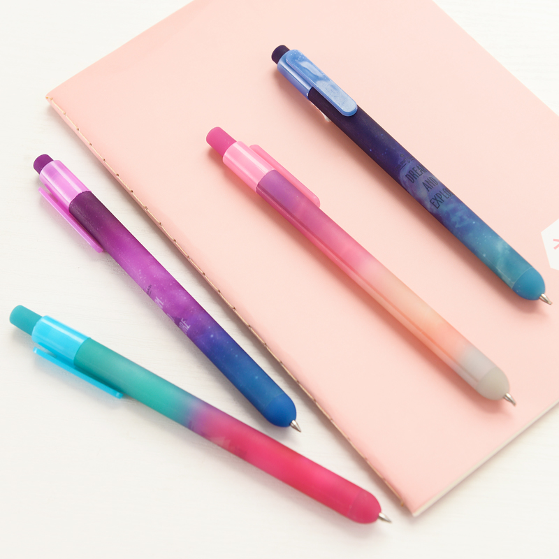 Creative Cute Star Plastic Gel Pen Lovely Kawaii Jelly Black Ink Pen For Kids Gift Korean Stationery Free Shipping 2409