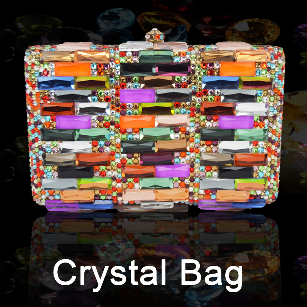 Crystal Evening Bag Wedding Party Purse bags Banquet Clutch Women Bling bags Wedding Party Handbag Ladies bride Clutch chain 386 women evening handbag beads clutch bags wedding party bridal purse bag vintage embroidered flower ladies totes bags