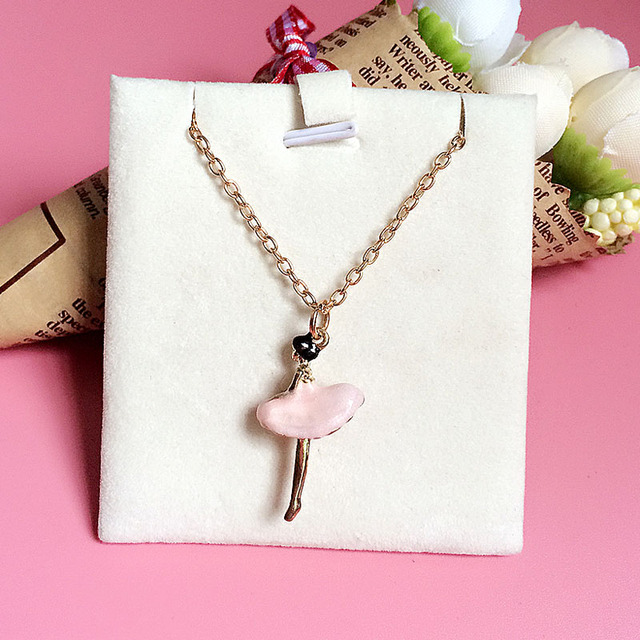 1e18b63768668 US $1.82 30% OFF|Pink Ballet Girl Pendant Necklace Best Friends Necklace  2019 Pendants For Women Jewellery Christmas Snow Baby A Gift For Girl-in ...