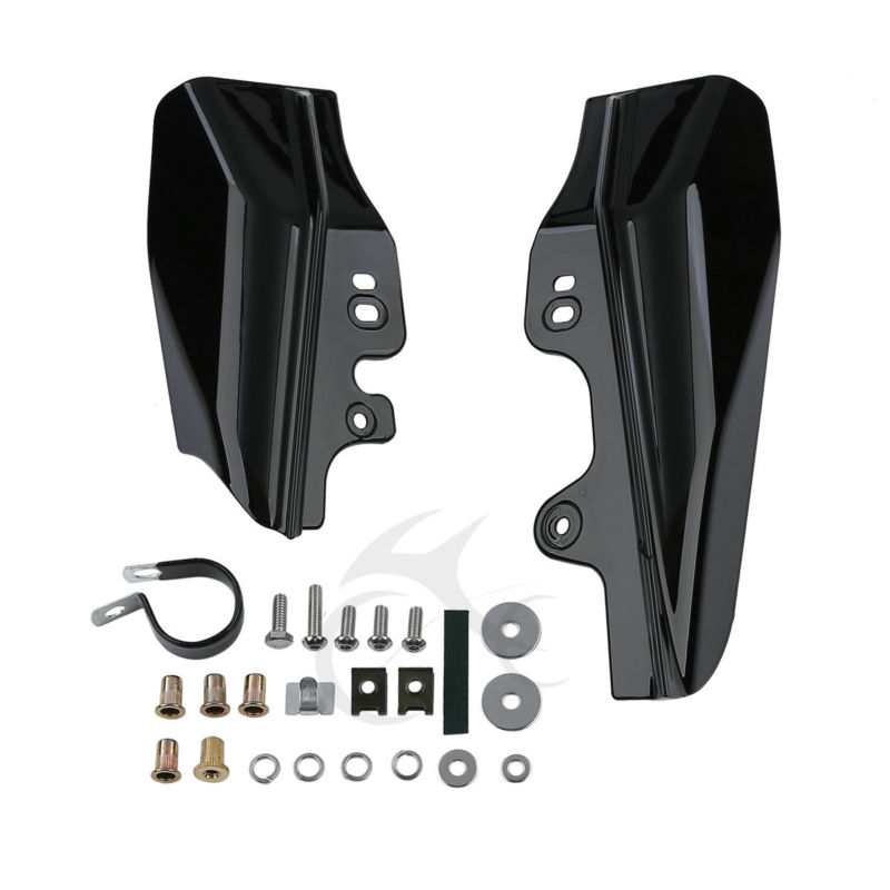 Motorcycle Mid-Frame Air Deflector For Harley Touring Street Electra Glide Road King FLHR FLHX FLTR FLHT 2001-2008 FLHRS EFI FLT chrome deep cut brake arm kit shift lever w shifter pegs for harley touring flt flhx flht flhr fltr flhtcutg 2014 2018