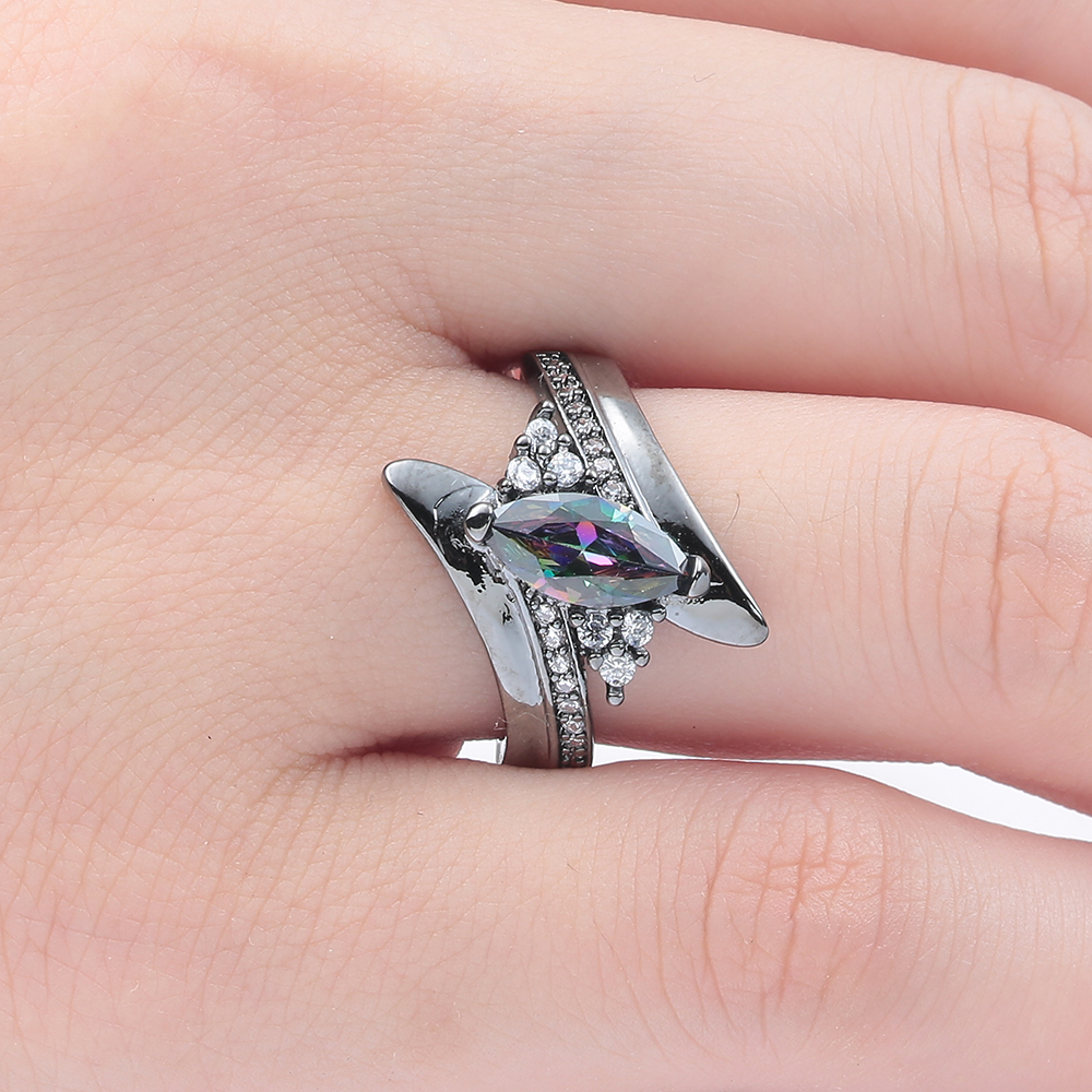 Romantic Love Style Jewelry Womens Ring Bridal Wedding Creativ ...