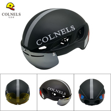 COLNELS Brand Bicycle Helmet  Magnetic Goggle Cycling Helmet  Ultralight Integrally-molded Adult Matte goggles Bike Helmet