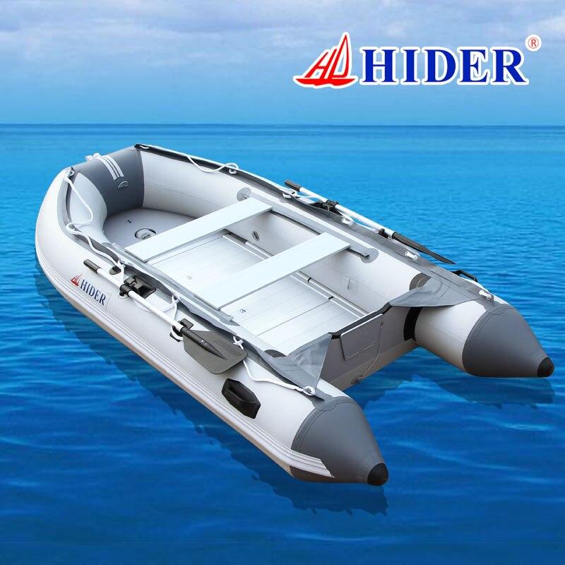 HIDER SD 270 cm 0.9mm PVC Gonflable Bateau En Aluminium de Plancher et Siège De Plage Vie Ligne Couleur En Option PVC Kayak Bateau De Pêche