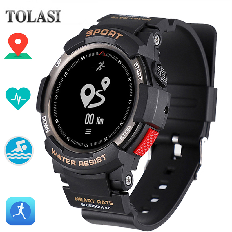 TOLASI Smart Watch F6 Multi Sport Modes Outdoor Bluetooth IP68 Waterproof Heart Rate Sleep Monitor Remote Camera GPS Smart Watch цена