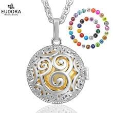 Eudora 20 mm Mexcain Bola Harmony Ball Pendant Necklace Fit Lava Stone Color Pregnancy Cage Chain Fine DIY Jewelry