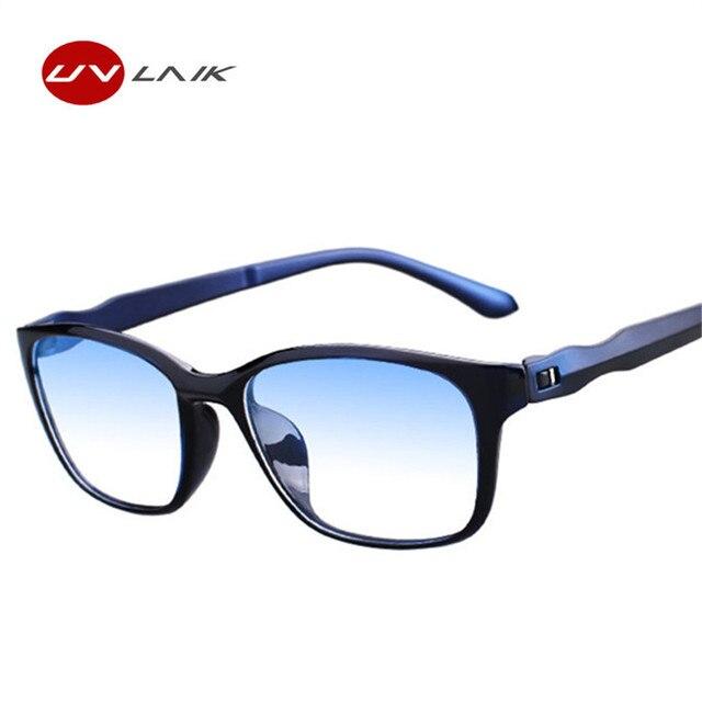 60ffd78077 UVLAIK de moda Anti azul rayos gafas de lectura de las mujeres de los  hombres de alta calidad TR90 Material de lectura anteojos + 1,0 + 4,0