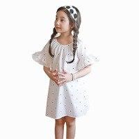 Baby Toddler Teenagers Girl Dress 2017 Summer Polka Dot Dresses Flare Sleeve Children Princess Costume Kids