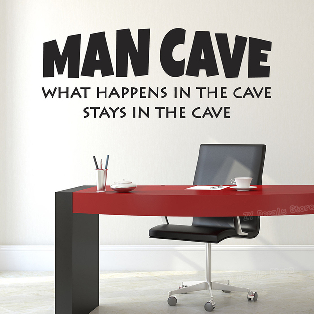 """""""What Happens In The Cave Stays In The Cave"""" Wall Stickers 2"""