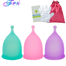 Sport Menstrual cup 100% Medical Grade Silicone Lady Cup Feminine Hygiene Reusable Silicone Cup Copa menstrual better than pads 2pcs pack s l feminine hygienemenstrual cup feminine vagina medical silicone cups lady pads tampons for women hygiene care