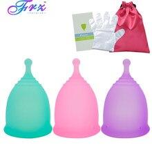 Esporte copo menstrual 100% grau médico silicone senhora copo higiene feminina reutilizável copo de silicone copa menstrual melhor do que almofadas