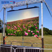 Outdoor P4.81 Rental 500x500mm Die Casting Aluminum SMD RGB LED Video Display Cabinet (P3.91/P5.95/P6.25 available)