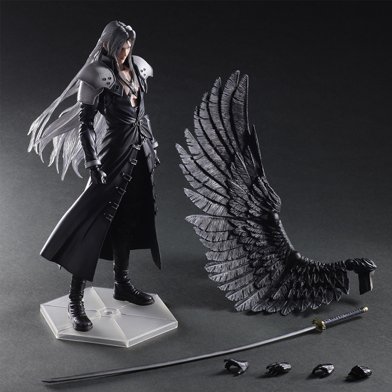Paly Play Arts Kai Final Fantasy VII 7 Sephiroth PVC Action Figure Squall Leonhart Gunblade Figure Collectible Model Toy final fantasy play arts kai action figure 250mm cloud sephiroth squall pvc anime toy collection model figurine play arts kai