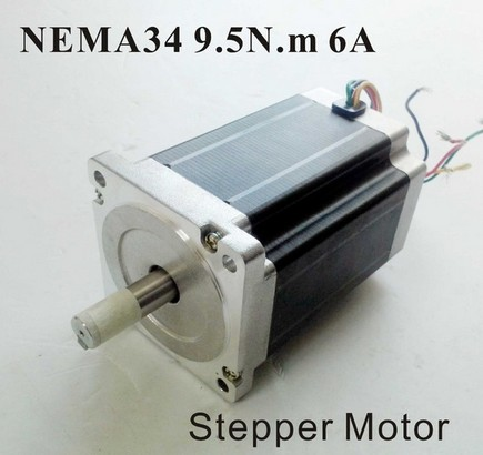 2pcs/lot NEMA 34 Stepper Motor 9.5 N.m (1319 oz-in) 6A Body 126mm CNC NEMA34 Stepping Motor CE ROHS 2pcs lot high torque planetary gearbox is a no 17 stepping motor 788 oz in 15 1 20 1 25 1 with a 34 mm motor body length