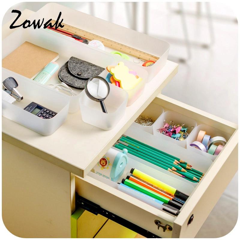 1pc Organizer Trays Home Office Storage Kitchen Bathroom Closet Desk Box  Drawer Organization Tray Cutlery Cosmetics