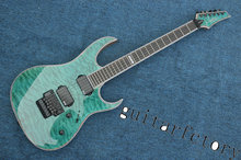 Electric guitar Hot Sale transparent green Custom Electric Guitar 6 Strings Guitars with quilted maple top