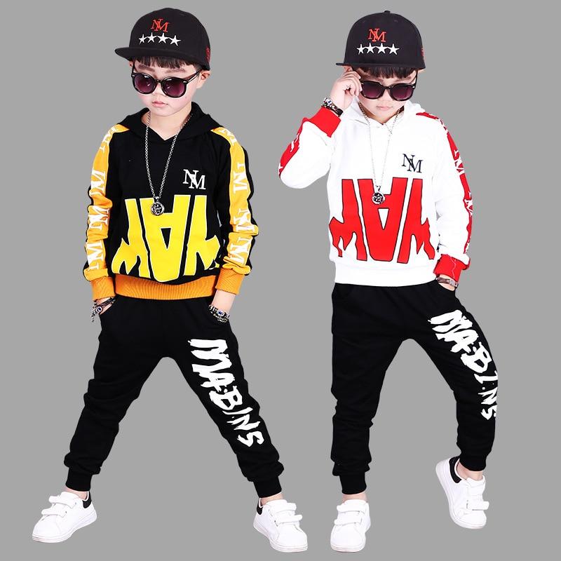 Kids 2018 New Boys Clothing Sets Spring Autumn Children 2 Piece Set Boy Sport Costums Outfit 3 4 6 8 10 12 Boys Tracksuit