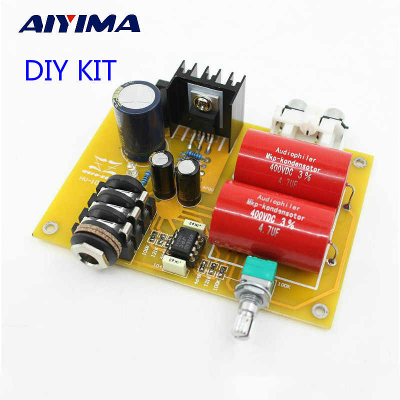 AIYIMA HV-10-RA1 Headphones Amplifier Audio Kits Headphone Amp Diy Can Use Battery and Power Adapter
