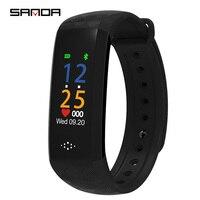 SANDA Sport Bracelet Watch Women Men LED Waterproof Smart Wrist Band Heart rate Blood Pressure Pedometer Clock For Android iOS