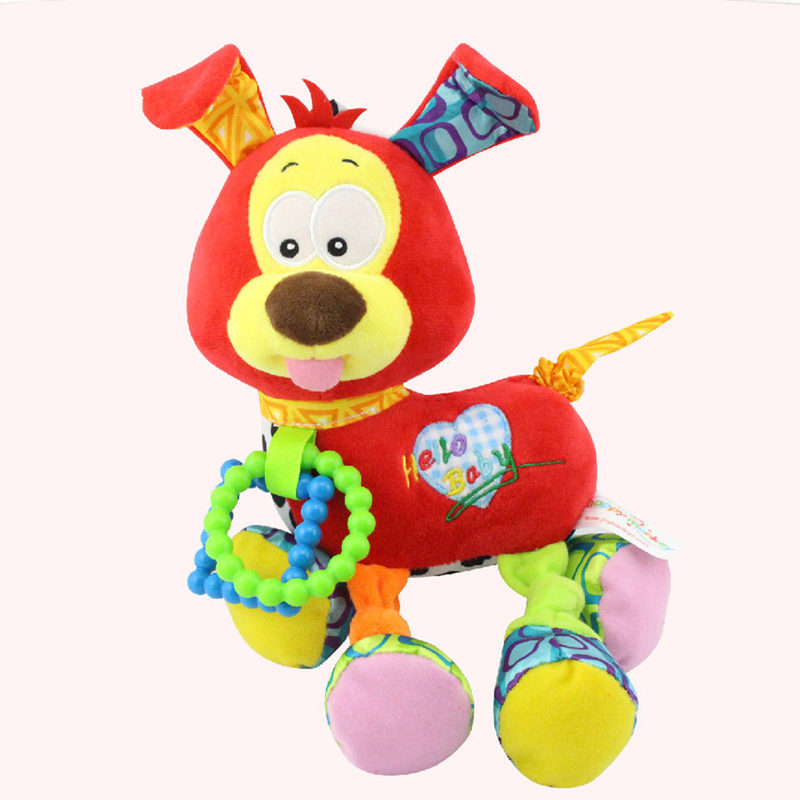 Cartoon Baby Rattles Mobiles Toys Teethers Newborn Infant 0-12 Months Soft Plush Stroller Crib Bed Hanging Dog Educational Toys