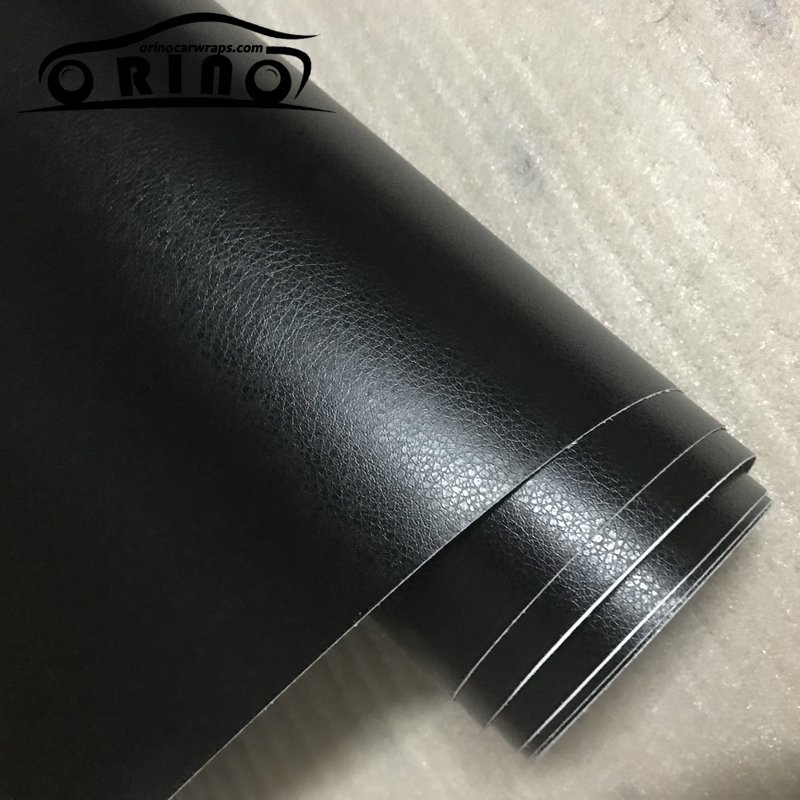 Image 4 - 3D PVC DIY Car Styling Interior Dashboard Sticker Black Leather Texture Trim Vinyl Wrap Sheet Film Sticker 10/20/30/40/50X152CM-in Car Stickers from Automobiles & Motorcycles