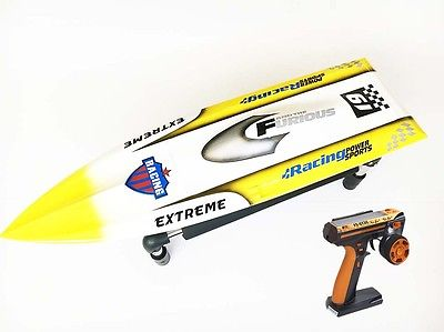 H625 RTR Spike Fiber Glass Electric Racing Speed Boat Deep Vee RC Boat W/3350KV Brushless Motor/90A ESC/Remote Control Yellow millet fiber reinforced electric brushless boat with b2445 motor 30a esc with bracket and radio transmitter free adjustment