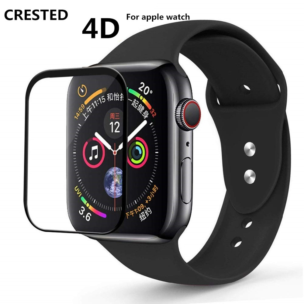 9H Tempered Glass Film For Apple Watch Band Apple Watch 5 4 3 44mm 40mm Full Curved Surface Iwatch 5 42mm 38mm Screen Protector