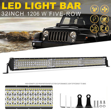 YNROAD 1206w 30inch five rows Led slim Light Bar offroad bar combo beam  for Hunting Driving Offroad