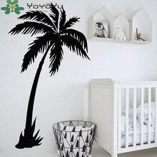 YOYOYU 40 color Vinyl Wall Decal Coconut Tree kids baby Room Bedroom Nursery Living Plant Home Decoration Stickers ZX039