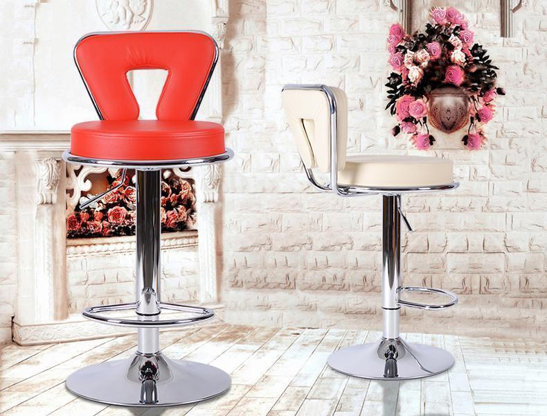 coffee house stool lifting rotation PU leather chair free shipping home bedroom wine cabinet chair public house stool red green color seat meeting room chair lifting rotation bench free shipping pu leather reading room stool