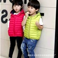 Warm Children Vests Waistcoats Girls/boy Duck Down&Coats Vest Candy Color Kids Jackets Autumn/winter  Baby Outerwear&Coats 2-7Y