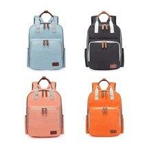 цены на Fashion Heine Large Capacity Travel Nursing Bag Portable Nappy Bag Diaper Light Waterproof Mummy Solid Multiple Backpack Bag в интернет-магазинах